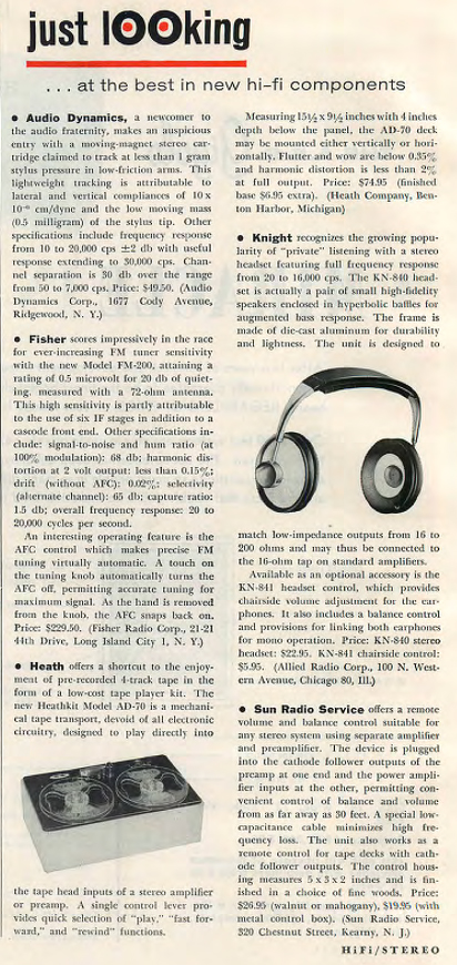 1961 ad for HeathKit playback reel to reel tape recorders in  Reel2ReelTexas.com's vintage recording collection