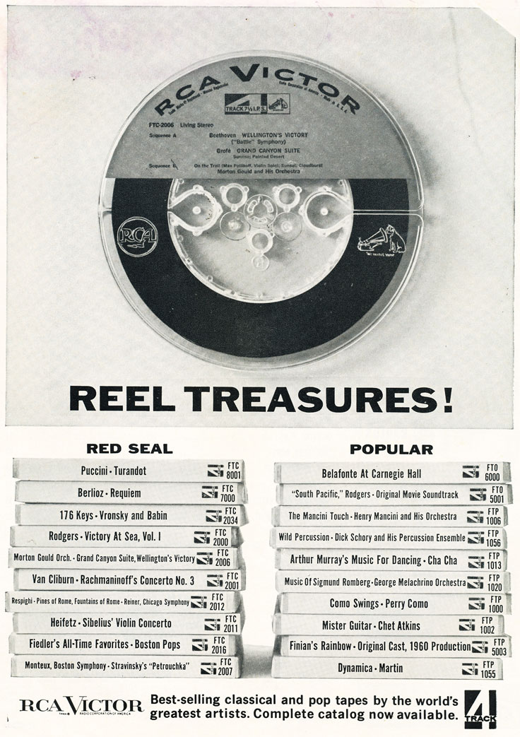 1961 ad for RCA in Reel2ReelTexas.com's vintage recording collection