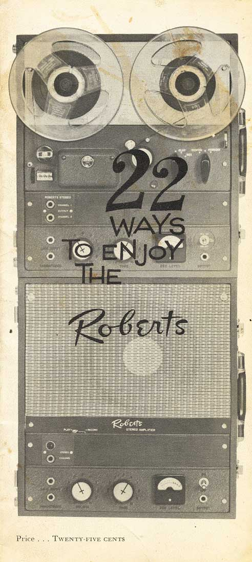 Roberts 90 reel tape recorder ad in Phantom Productions' vintage recording collection