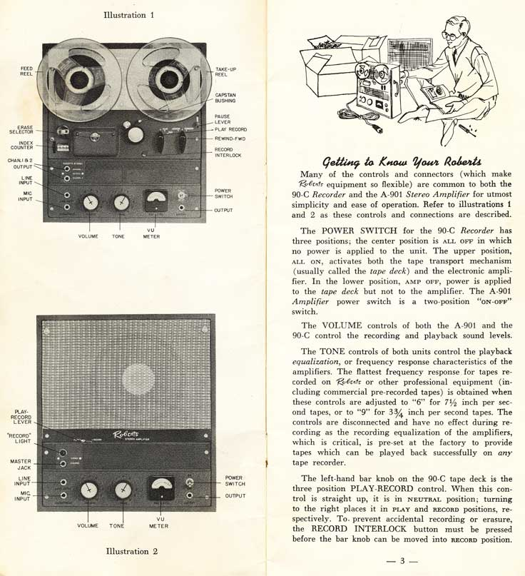 Roberts 90 reel tape recorder ad in Reel2ReelTexas.com's vintage recording collection