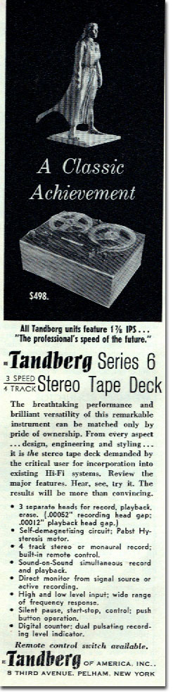 picture of Tandberg ad in 1961