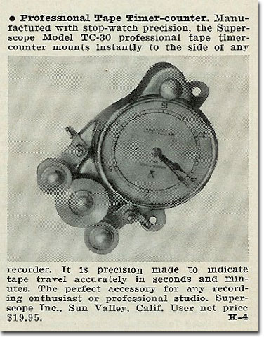 picture of 1961 reel to reel tape recorder counter ad