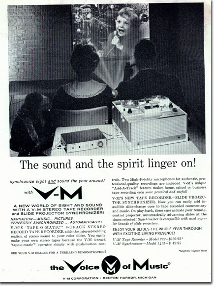 picture of Voice of Music ad in 1961