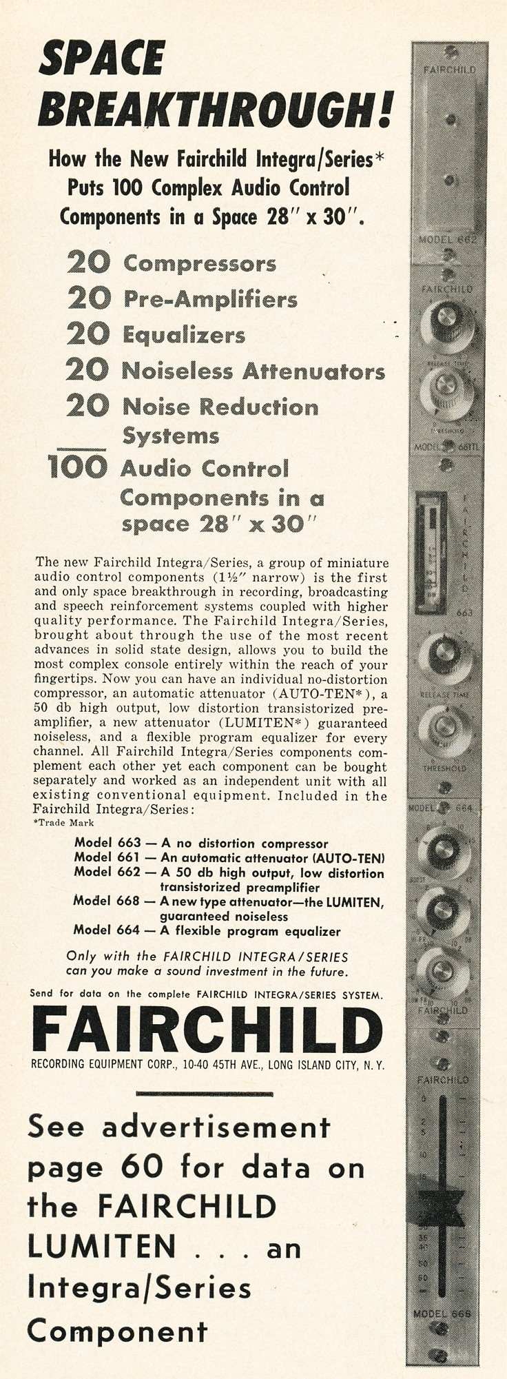 1962 ad for Fairchild Audio in Reel2ReelTexas.com's vintage recording collection