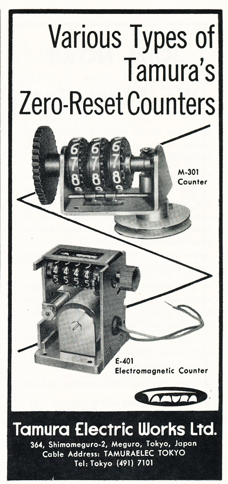 1962 ad for Tamera counters in   Reel2ReelTexas.com's vintage recording collection