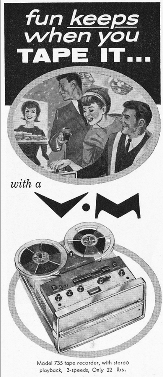 1962 ad for the Voice of Music tape recorder in the Phantom Productions vintage recording collection