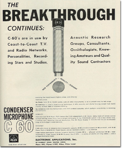 picture of 1963 AKG microphone ad