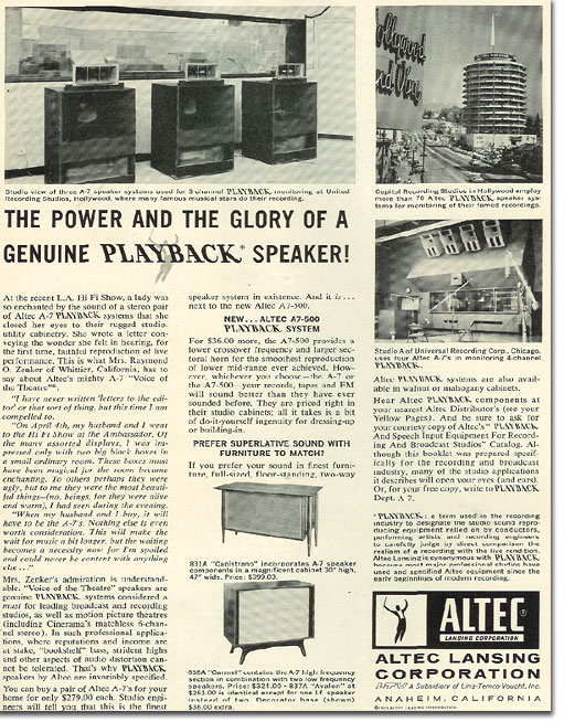 picture of 1963 Altec  ad