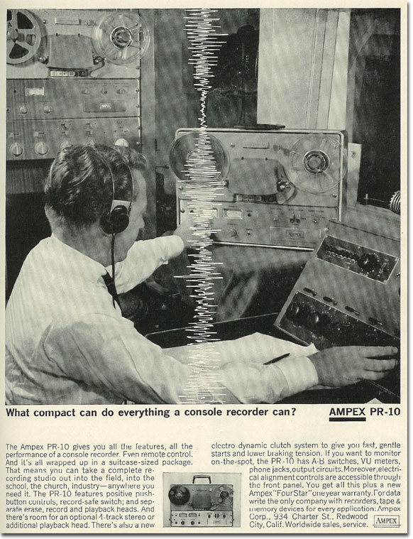 picture of 1963 Ampex PR-10 ad