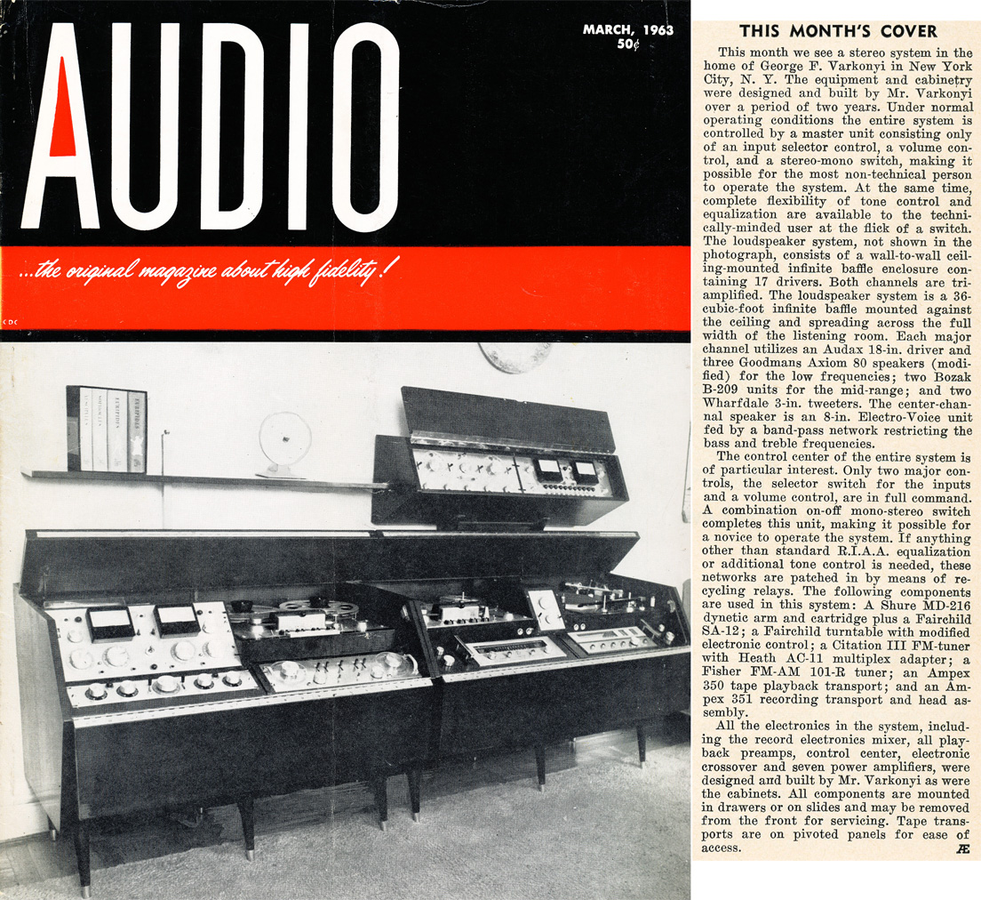 1963 March cover of the Audio Engineering magazine in Reel2ReelTexas.com's vintage recording collection