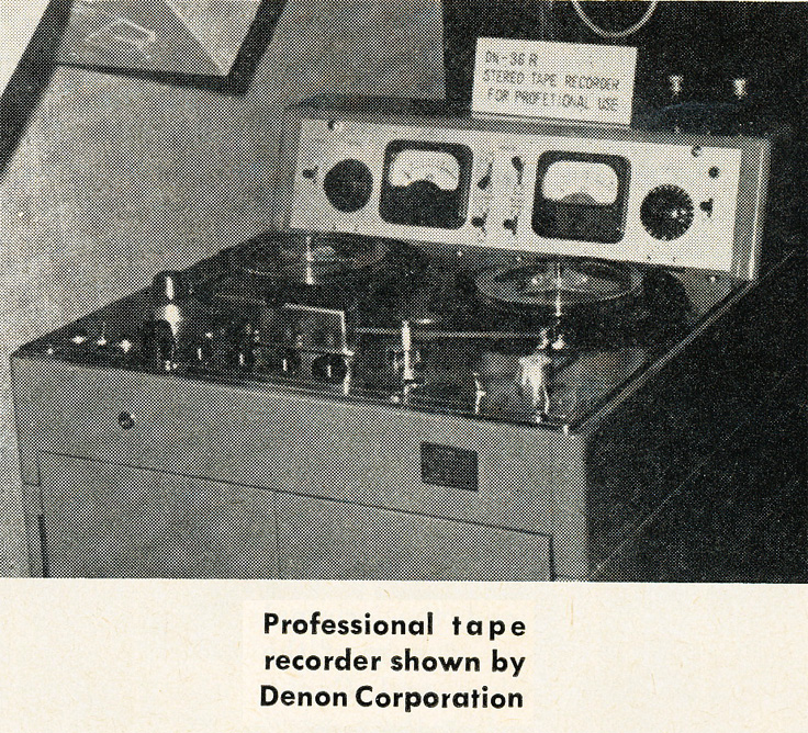 1963 picture of Denon professional reel to reel tape recorder