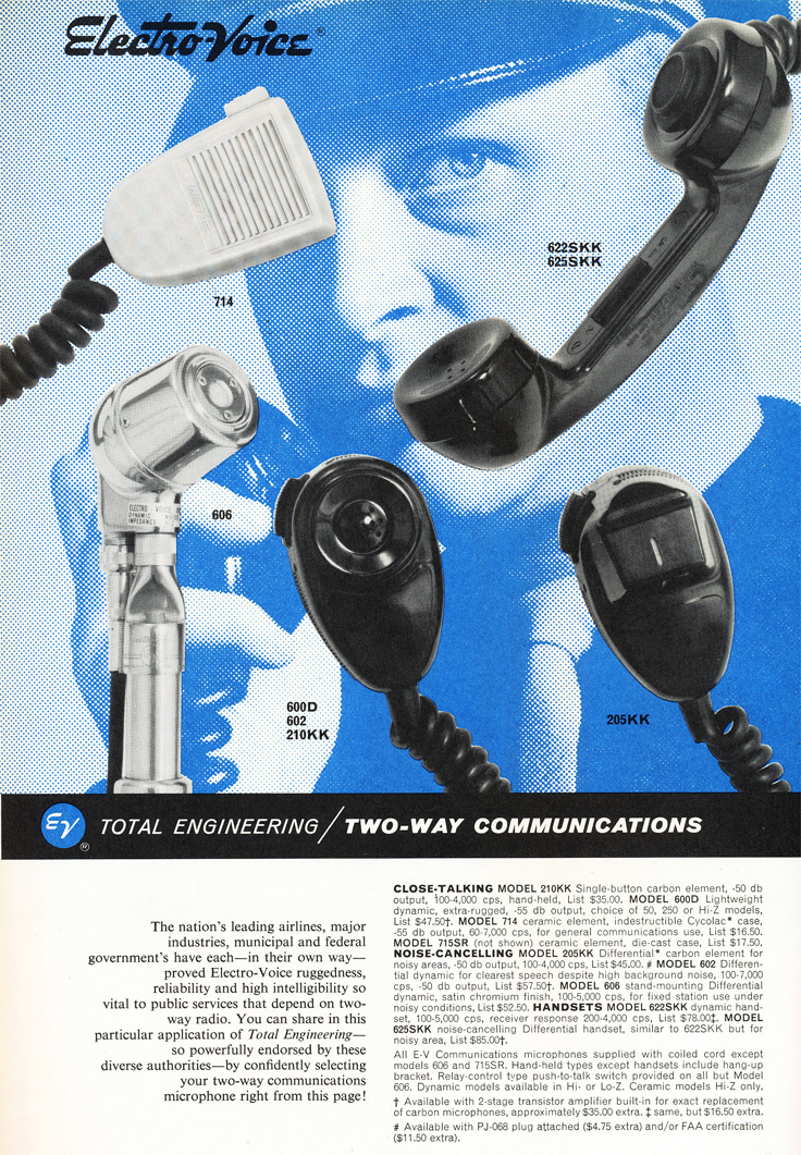 1963 ad for Electro Voice microphones in   Reel2ReelTexas.com's vintage recording collection