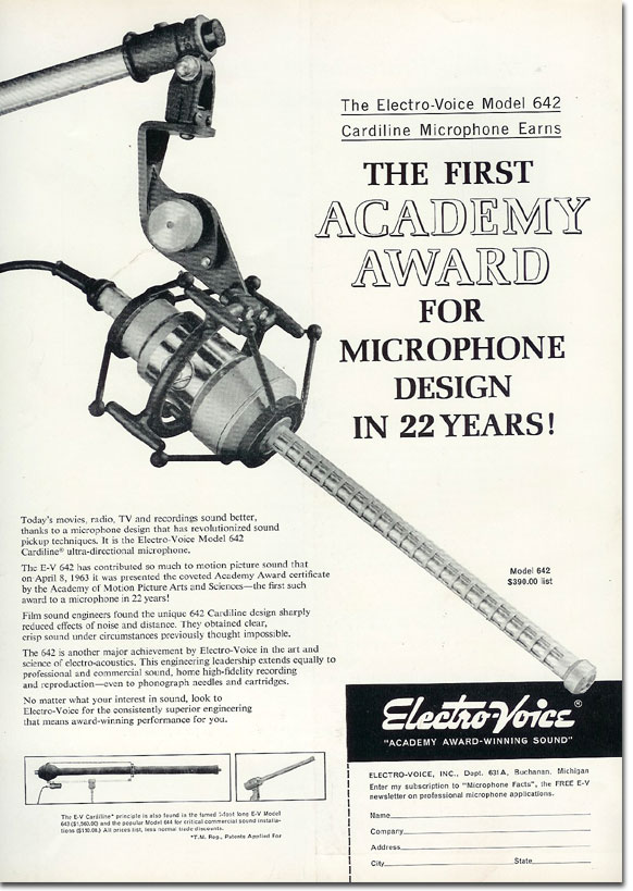 picture od 1963 Electro Voice 642 microphone ad