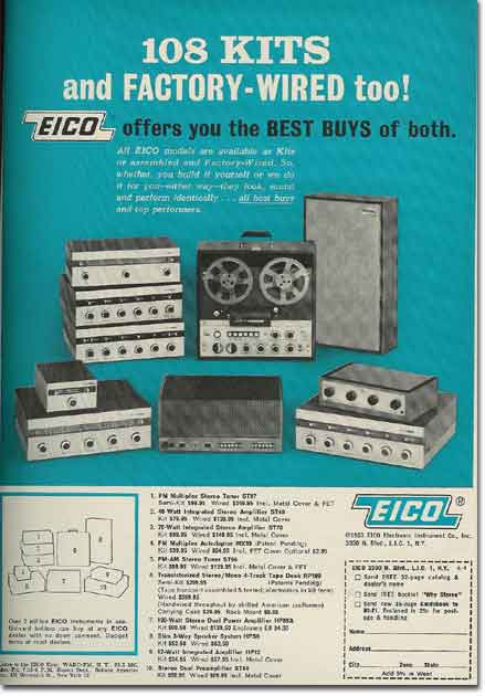 picture of 1963 Eico tape recorder ad