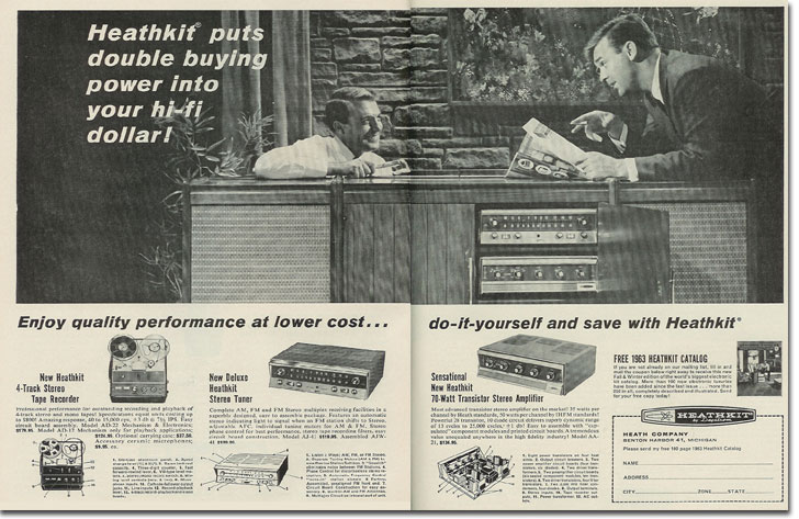 picture od 1963 Heathkit tape recorder ad