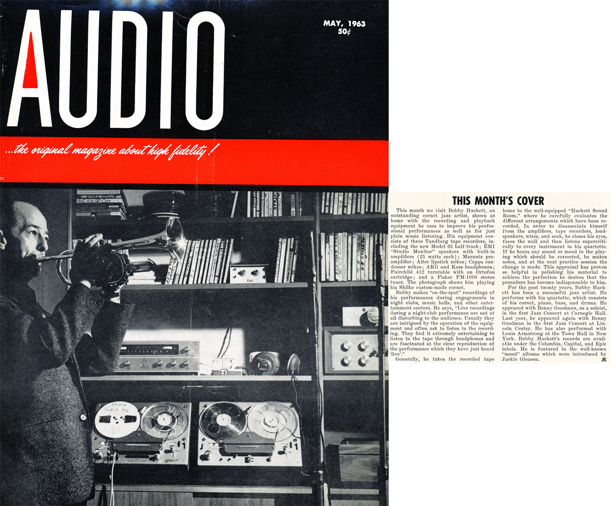 1963 April cover of the Audio Engineering magazine in Reel2ReelTexas.com's vintage recording collection