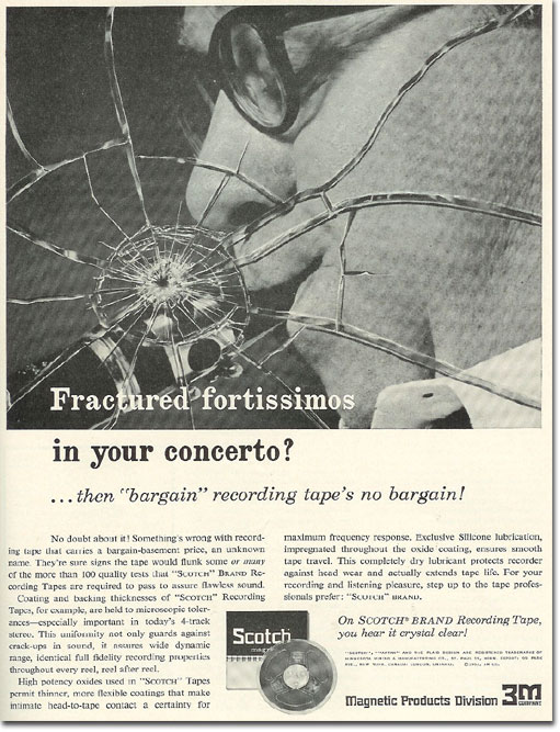 picture of 1963 Scotch recording tape ad