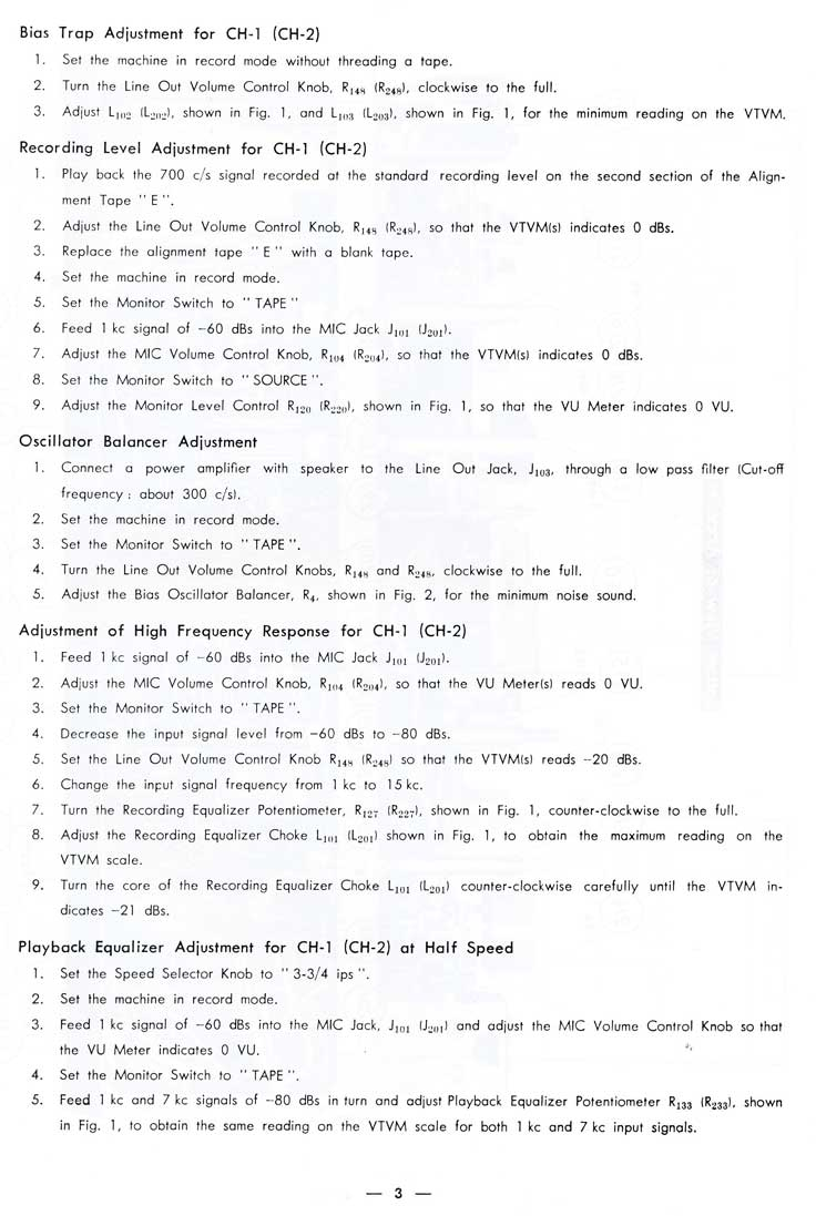 1963 service manual pages for the Sony 600 reel tape recorder in Reel2ReelTexas.com's vintage recording collection