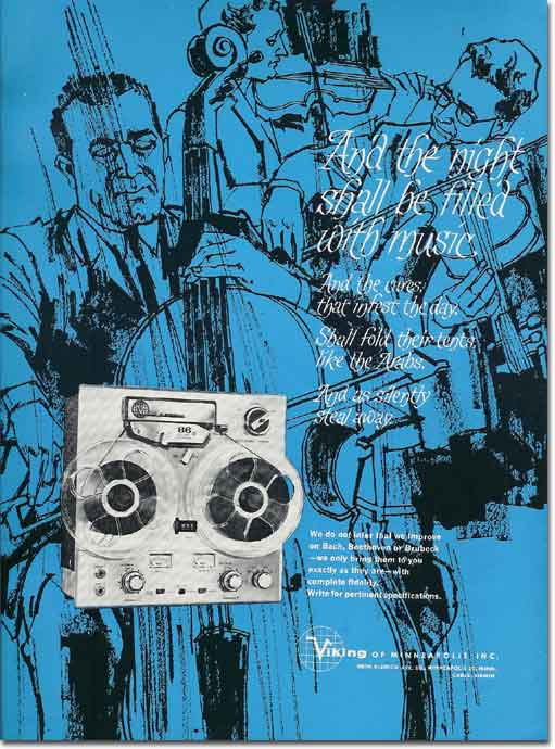 picture of 1963 Viking tape recorder ad