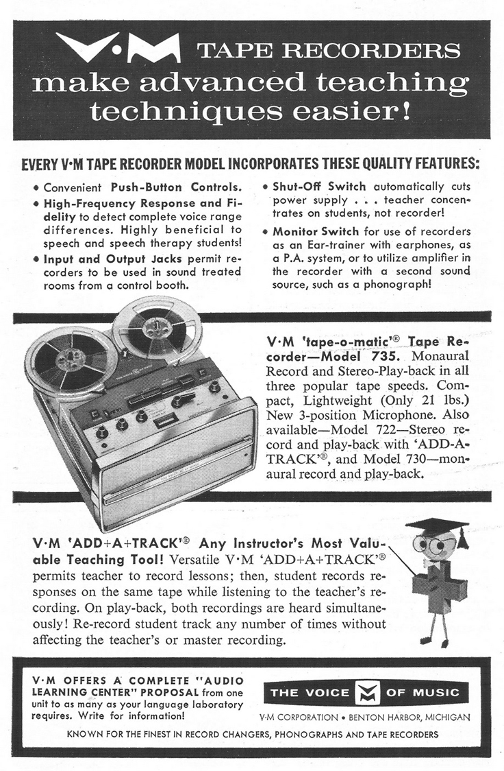 1963 ad for the Voice of Music reel to reel tape recorder in Reel2ReelTexas.com's vintage recording collection