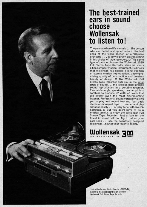 1963 3M Wollensak 1580 reel tape recorder ad in Reel2ReelTexas.com's vintage reel tape recorder collection
