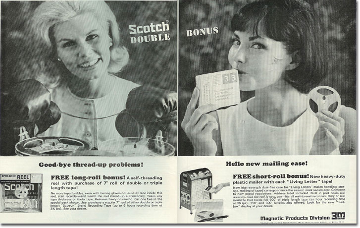 picture of 1964 Scotch 3M recording tape ad
