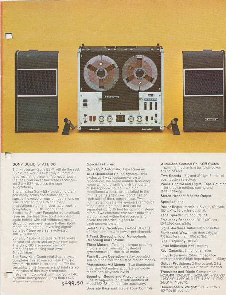 1964 Sony Tape Recorder Catalog in Reel2ReelTexas.com's vintage reel tape recorder collection