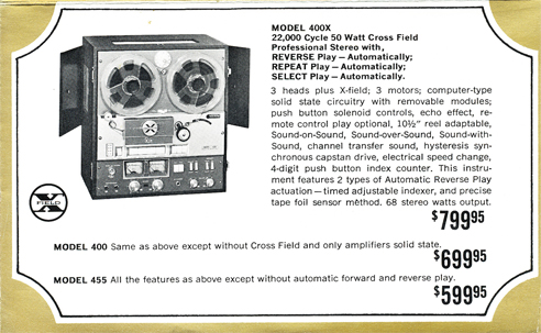 Roberts 400X ad in Reel2ReelTexas' vintage reel tape recorder collection