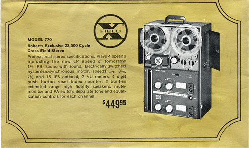Roberts 770 ad in Reel2ReelTexas' vintage reel tape recorder collection