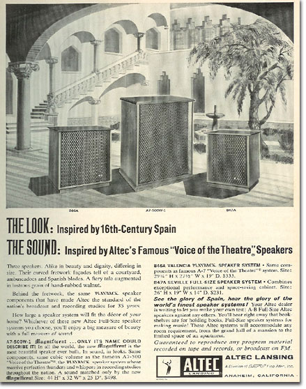 picture of 1966 Altec speaker ad