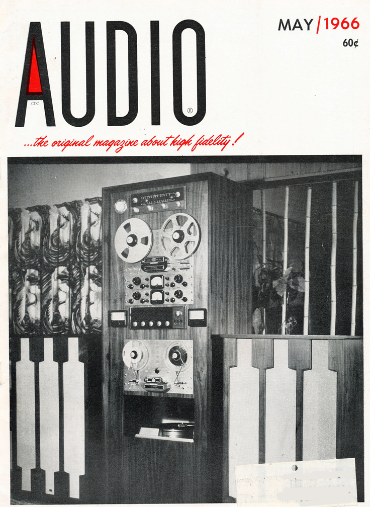 1966 May cover of the Audio magazine in Reel2ReelTexas.com's vintage recording collection