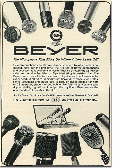 picture of 1966 Beyer microphone ad