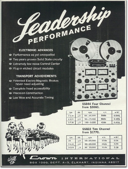 picture of 1966 Crown tape recorder ad