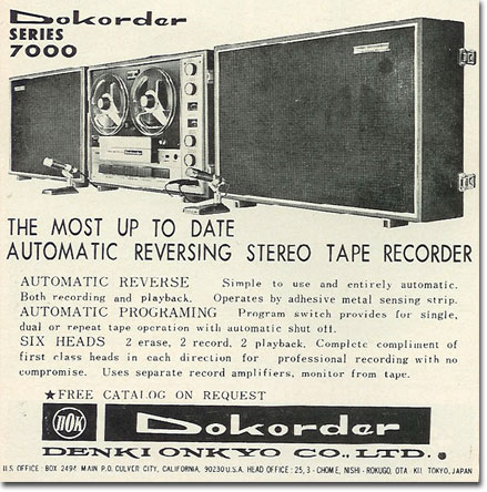 picture of 1966 Dorkorder tape recorder ad