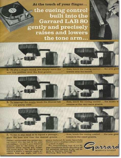 picture of 1966 Garrard Lab 80 turntable ad