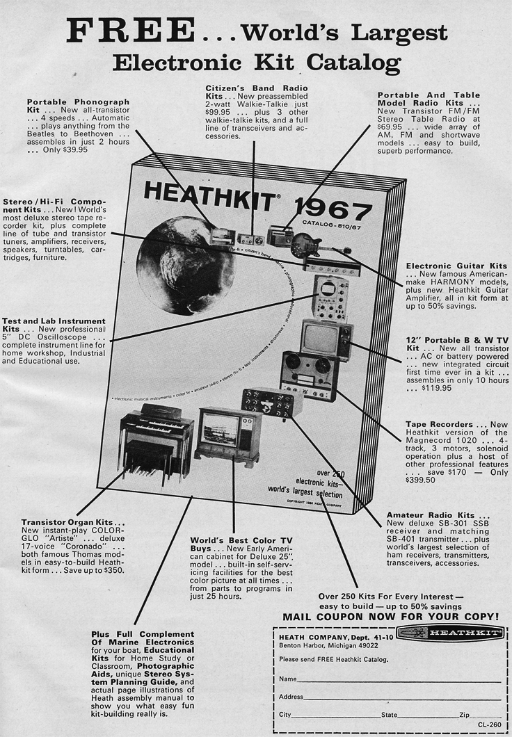 1966 ad for HeathKit catalog in Reel2ReelTexas.com's vintage recording collection