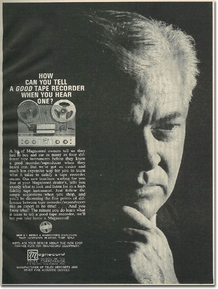 picture of 1966 Magnecord tape recorder ad