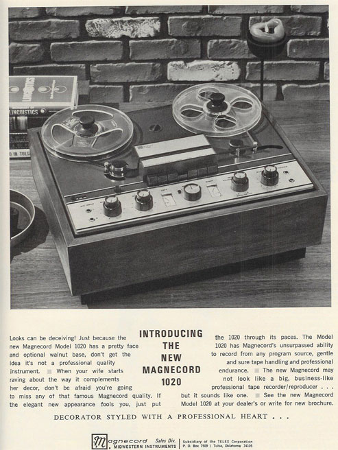 picture of 1966 Magnecord 1020 ad in Reel2ReelTexas.com vintage reel to reel tape recorder collection