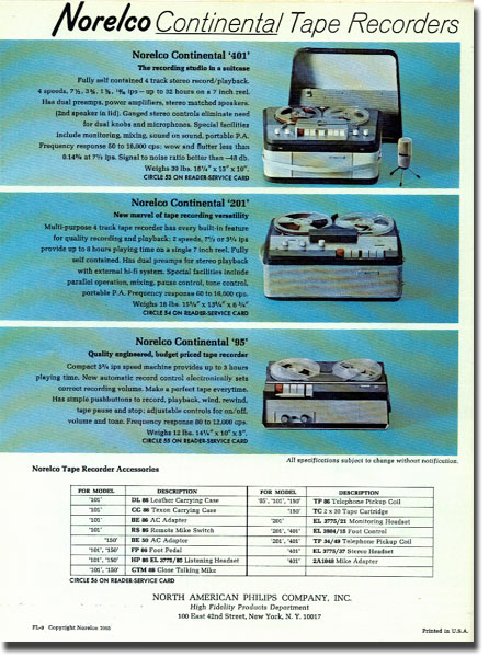picture of Norelco tape recorder ad from 1966