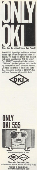 picture of 1966 Oki ad in Reel2ReelTexas.com vintage reel to reel tape recorder collection