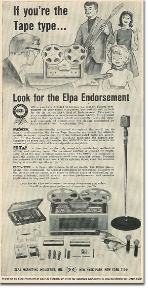 picture of 1966 Revoxtape recorder ad