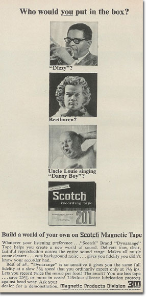 picture of 1966 Scotch recording tape ad
