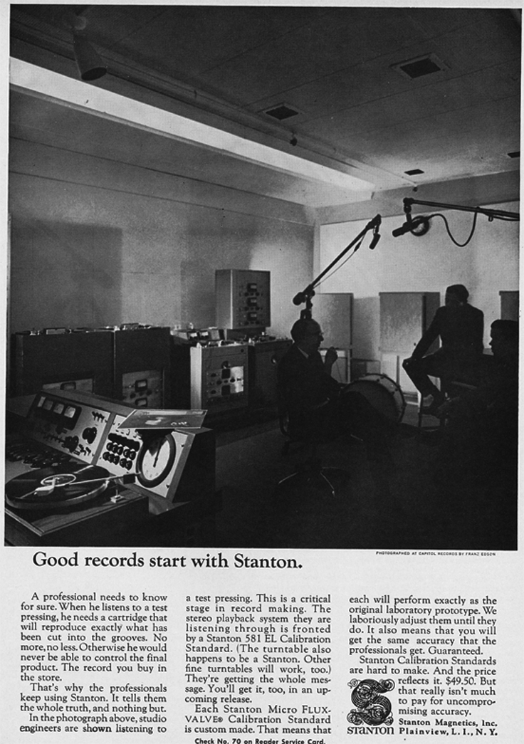1966 ad for Stanton products  in Reel2ReelTexas.com's vintage recording collection