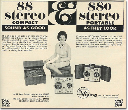 picture of 1966 Viking tape recorder ad