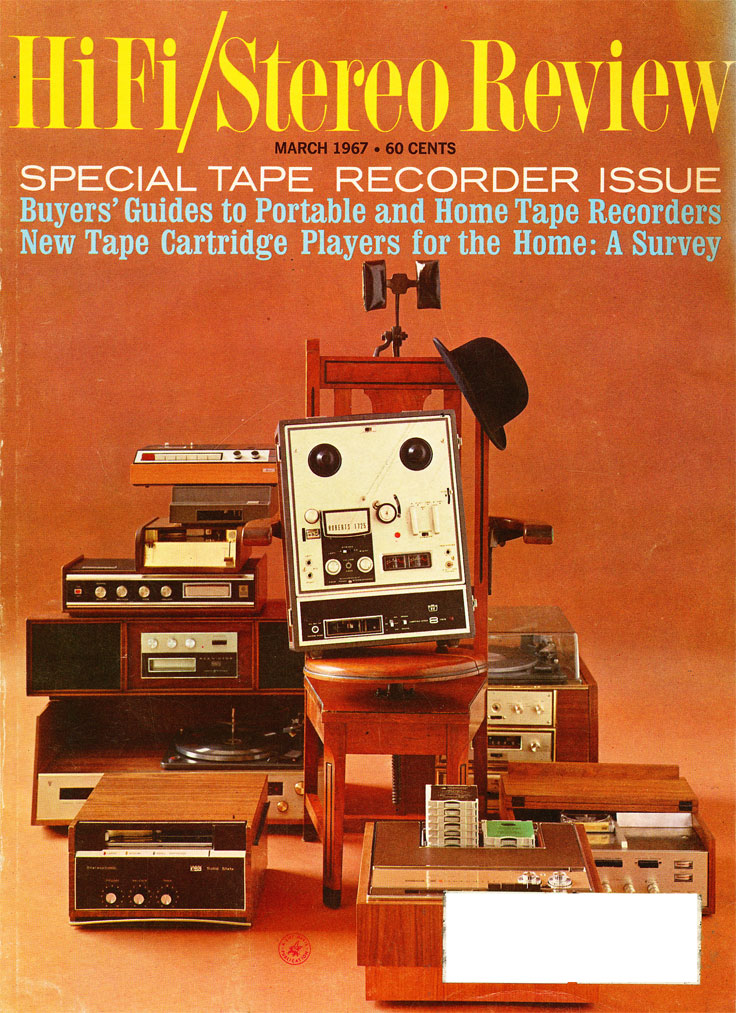1967 cover of the HiFi Stereo Review magazine's Annual Tape Issue in Reel2ReelTexas.com's vintage recording collection