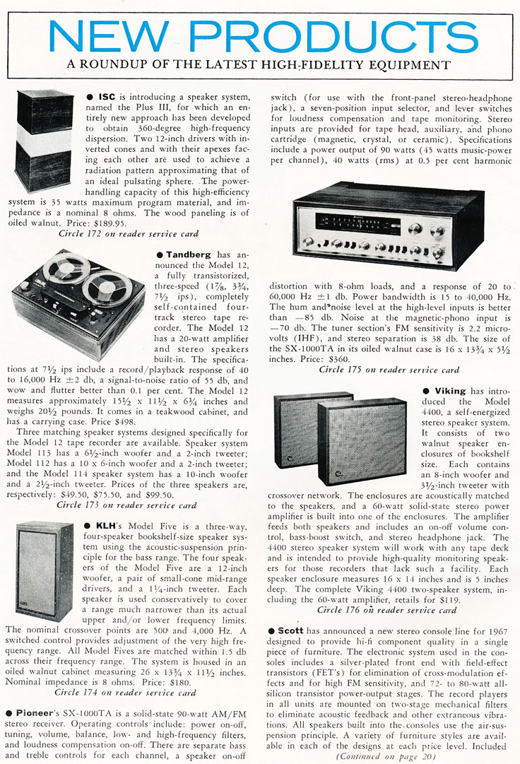 1967 New Products  in Reel2ReelTexas.com's vintage recording collection