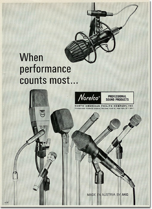 1967 Norelco microphone ad