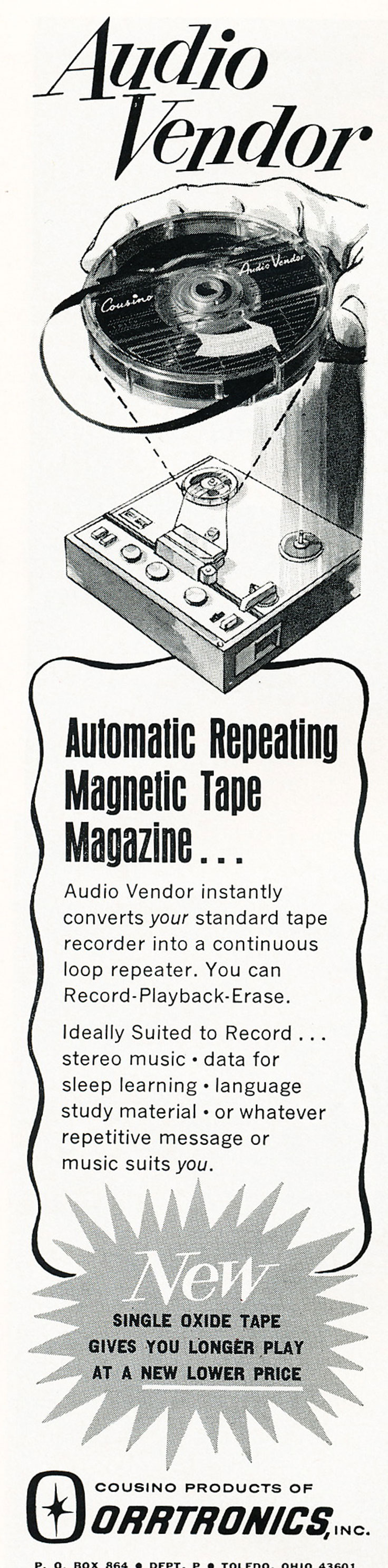 1967 ad for Orrtronics in Reel2ReelTexas.com's vintage recording collection