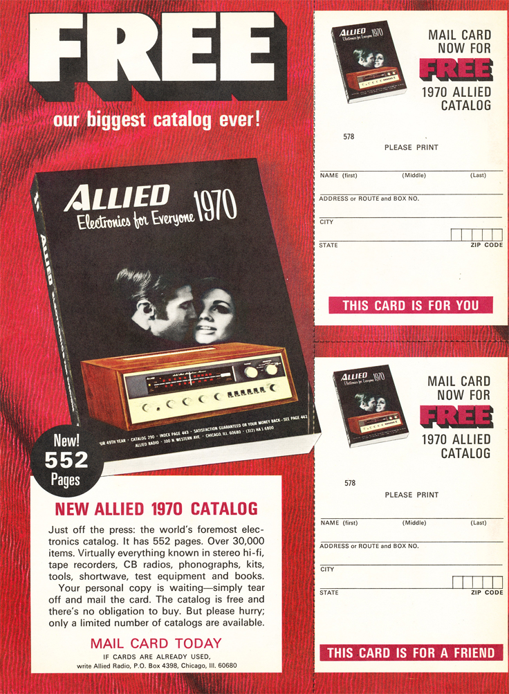 1969 d for the 1970 Allied Radio catalog in Reel2ReelTexas.com's vintage recording collection