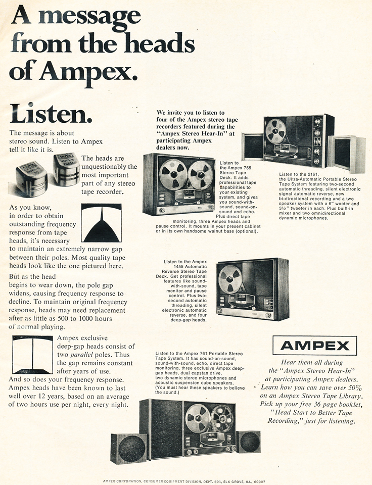 1969 Ampex 1455 reel to reel tape recorder in Reel2ReelTexas.com's vintage recording collection